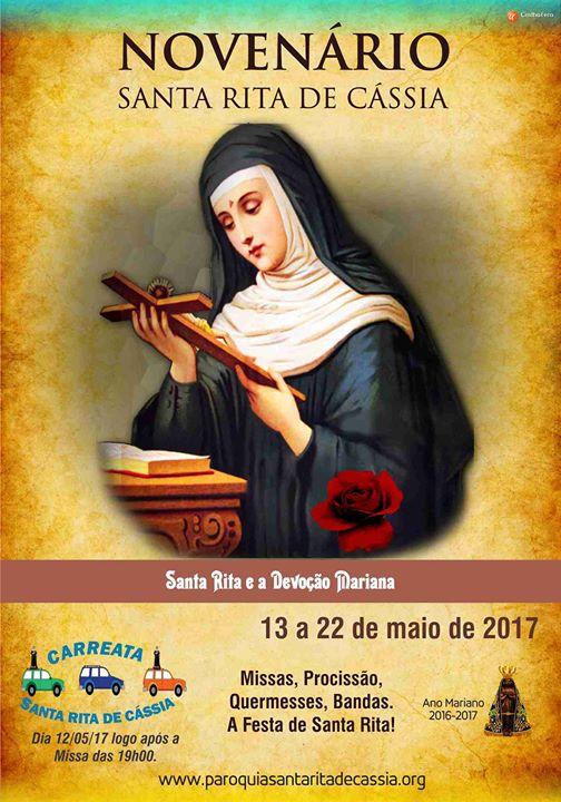 Novenário e Festa de Santa Rita de Cássia acontecerá em Maio