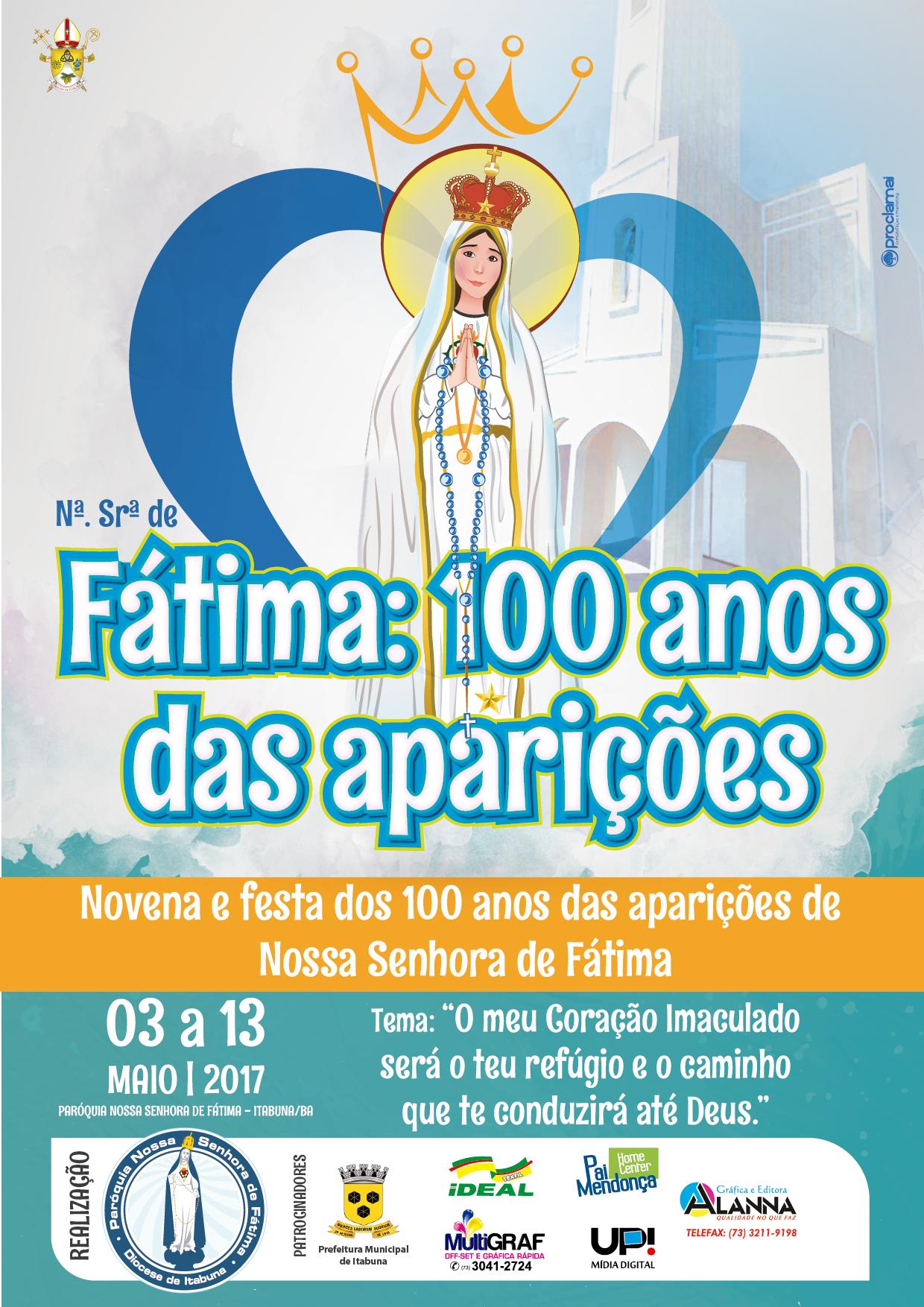 Novenário e Festa de Nossa Senhora de Fátima – 100 anos