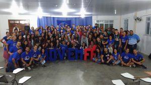 Encontro jovem fé da Paróquia N Sra Aparecida reúne cerca de 140 jovens neste fim de semana
