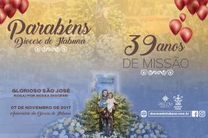 PARABÉNS DIOCESE DE ITABUNA 39 ANOS DE MISSÃO