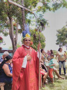 Pataxó Hã-Hã-Hãe celebram a Festa de São Sebastião com a presença do Bispo Diocesano Dom Carlos Alberto