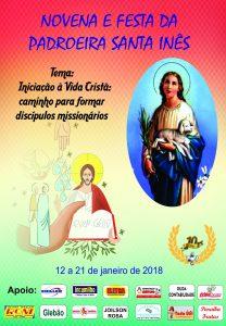 Paróquia de Santa Inês se prepara para a Novena e festa da Padroeira 2018