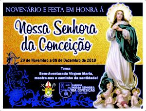 PARÓQUIA CELEBRARÁ NOSSA SENHORA DA CONCEIÇÃO