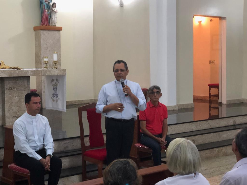 Visita Pastoral de Dom Carlos Alberto dos Santos, na Paróquia Senhora Santana em Floresta Azul