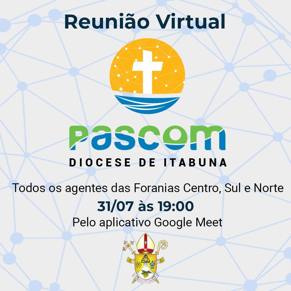 ACONTECE HOJE REUNIÃO DIOCESANA DA PASCOM