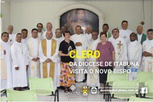 VISITA DO CLERO A DOM CARLOS EM TEIXEIRA DE FREITAS