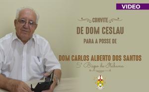 CONVITE PARA POSSE DE DOM CARLOS ALBERTO