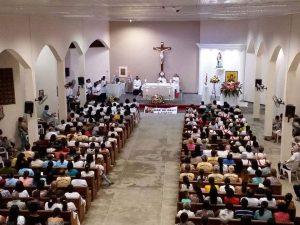 Visita de Dom Carlos Alberto á Paroquia de Sant'Ana em Buerarema