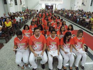 São Crismados na Santa Rita de Cássia em Itabuna 57 pessoas entre Jovens e Adultos.