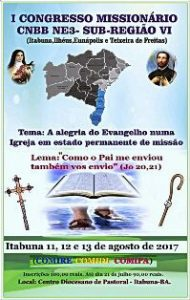 O CONGRESSO MISSIONÁRIO É MISSÃO DE TODOS NÓS