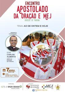 ENCONTRO DO APOSTOLADO DA ORAÇÃO E MEJ ACONTECE NESTE SÁBADO