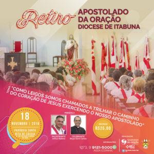 Apostolado da Oração promoverá retiro espiritual diocesano