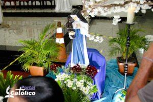 Último dia da imagem de Irmã Dulce na Paróquia de Santa Rita em Itabuna.