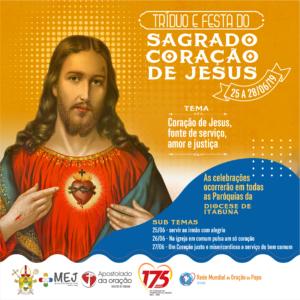 DIOCESE DE ITABUNA CELEBRARÁ A FESTA DO SAGRADO CORAÇÃO DE JESUS