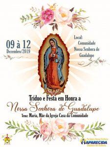 TRÍDUO E FESTA EM HONRA DE NOSSA SENHORA DE GUADALUPE