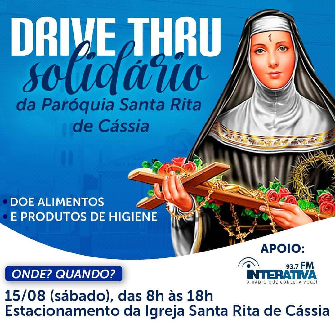 Paróquia Santa Rita de Cássia em Itabuna realiza Drive Thru solidário