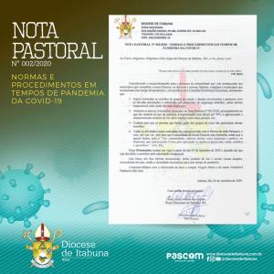 NOTA PASTORAL N° 002/2020 – NORMAS E PROCEDIMENTOS EM TEMPOS DE PANDEMIA DA COVID-19
